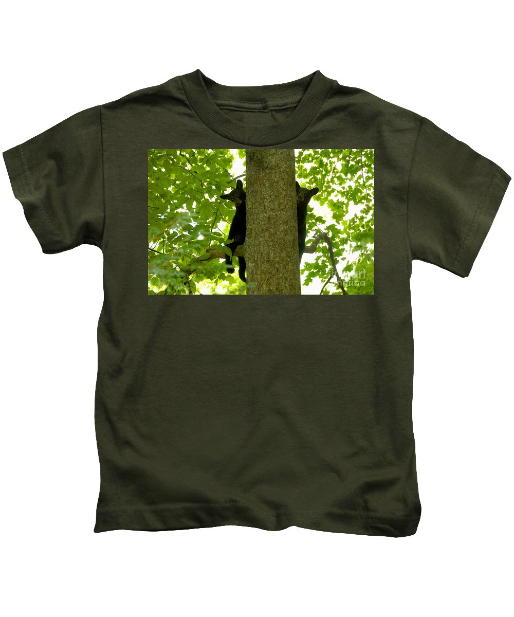 Two Kids T-Shirt featuring the photograph Two Cubs by David Lee Thompson
