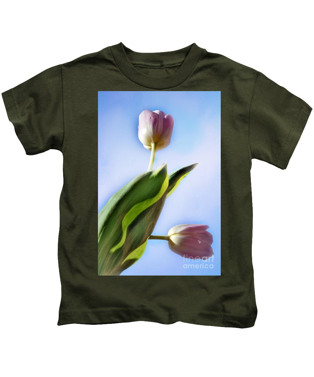 Two Kids T-Shirt featuring the photograph Two Tulips by Camelia C