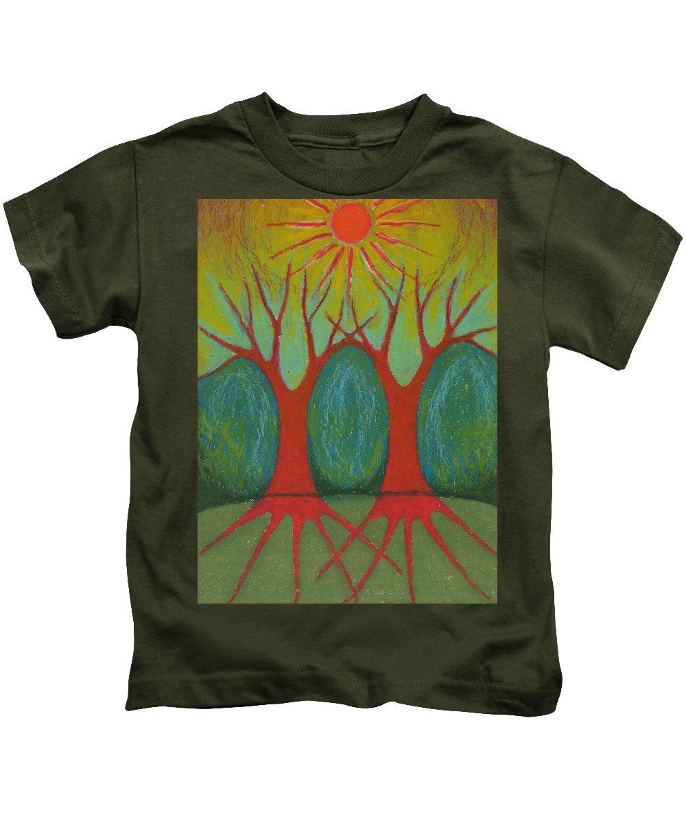 Colour Kids T-Shirt featuring the pastel Two Worlds by Wojtek Kowalski