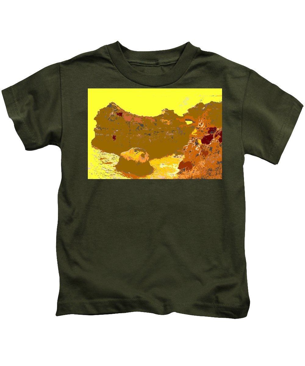 Mediterranean Kids T-Shirt featuring the photograph Under A Portugese Sun by Ian MacDonald