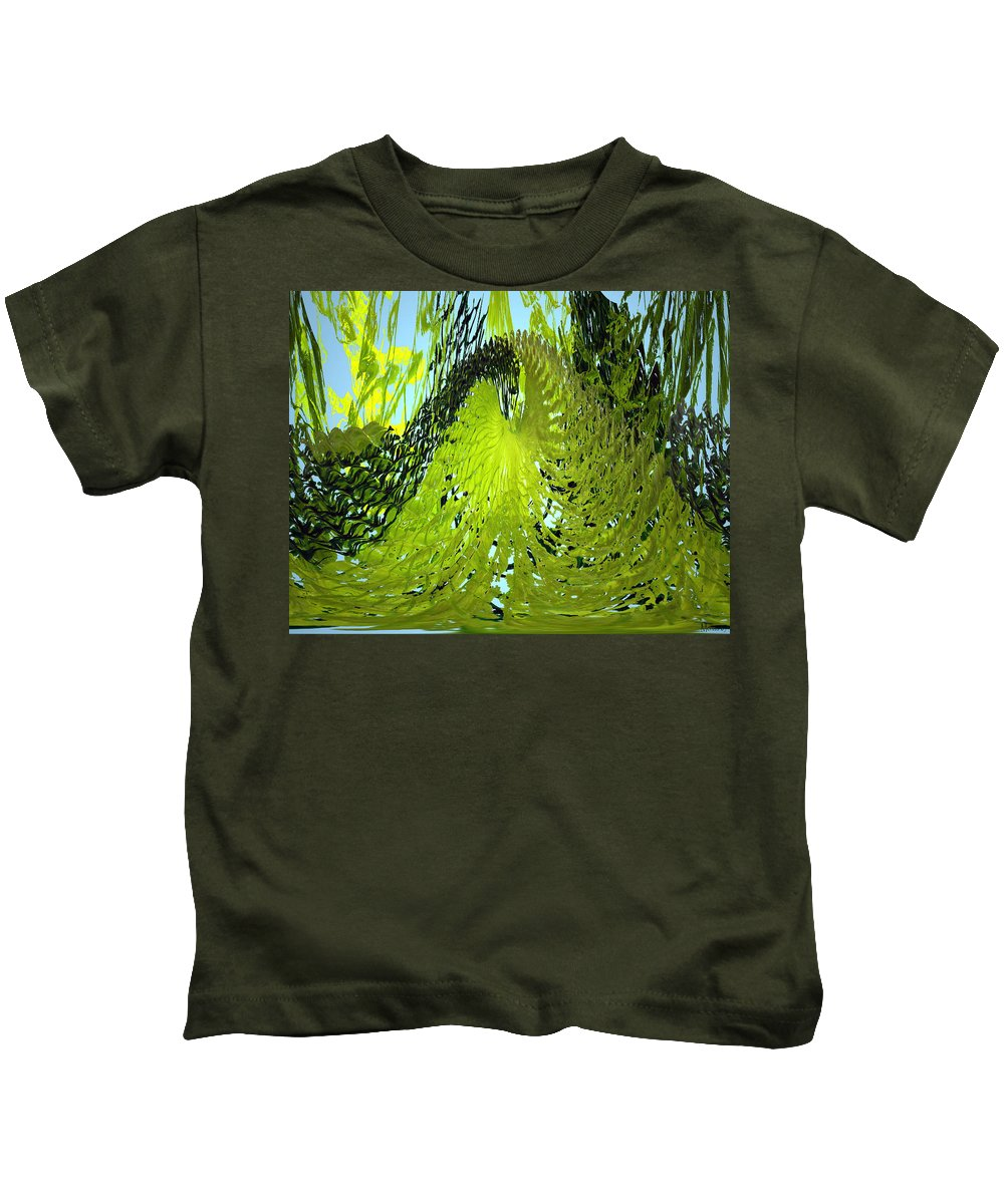 Seaweed Kids T-Shirt featuring the photograph Under Water by Merja Waters