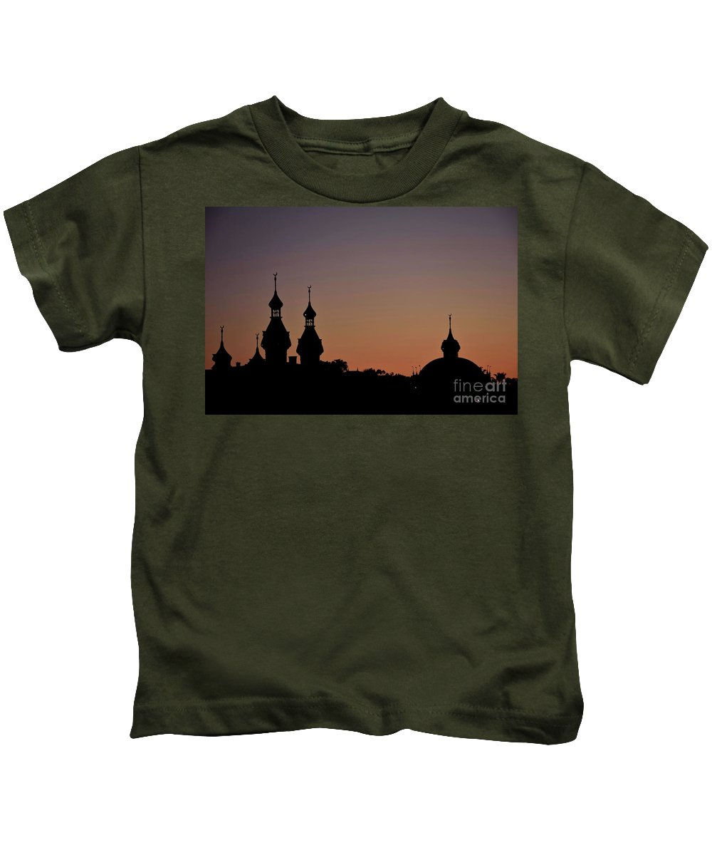 Tampa Kids T-Shirt featuring the photograph University Of Tampa Minarets - Close-up 26383 by Anna Gibson