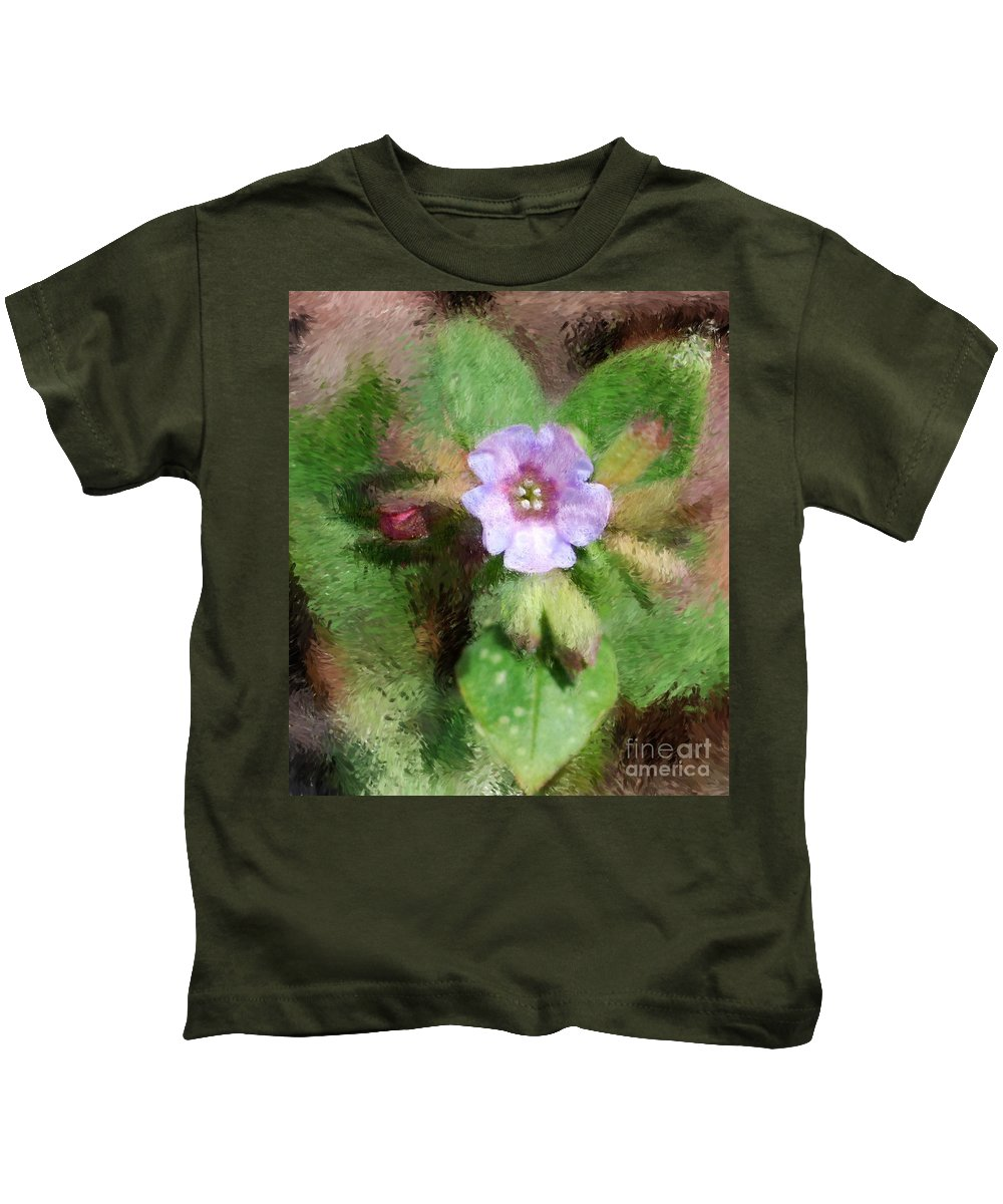 Digital Photo Kids T-Shirt featuring the photograph Untitled Floral -1 by David Lane