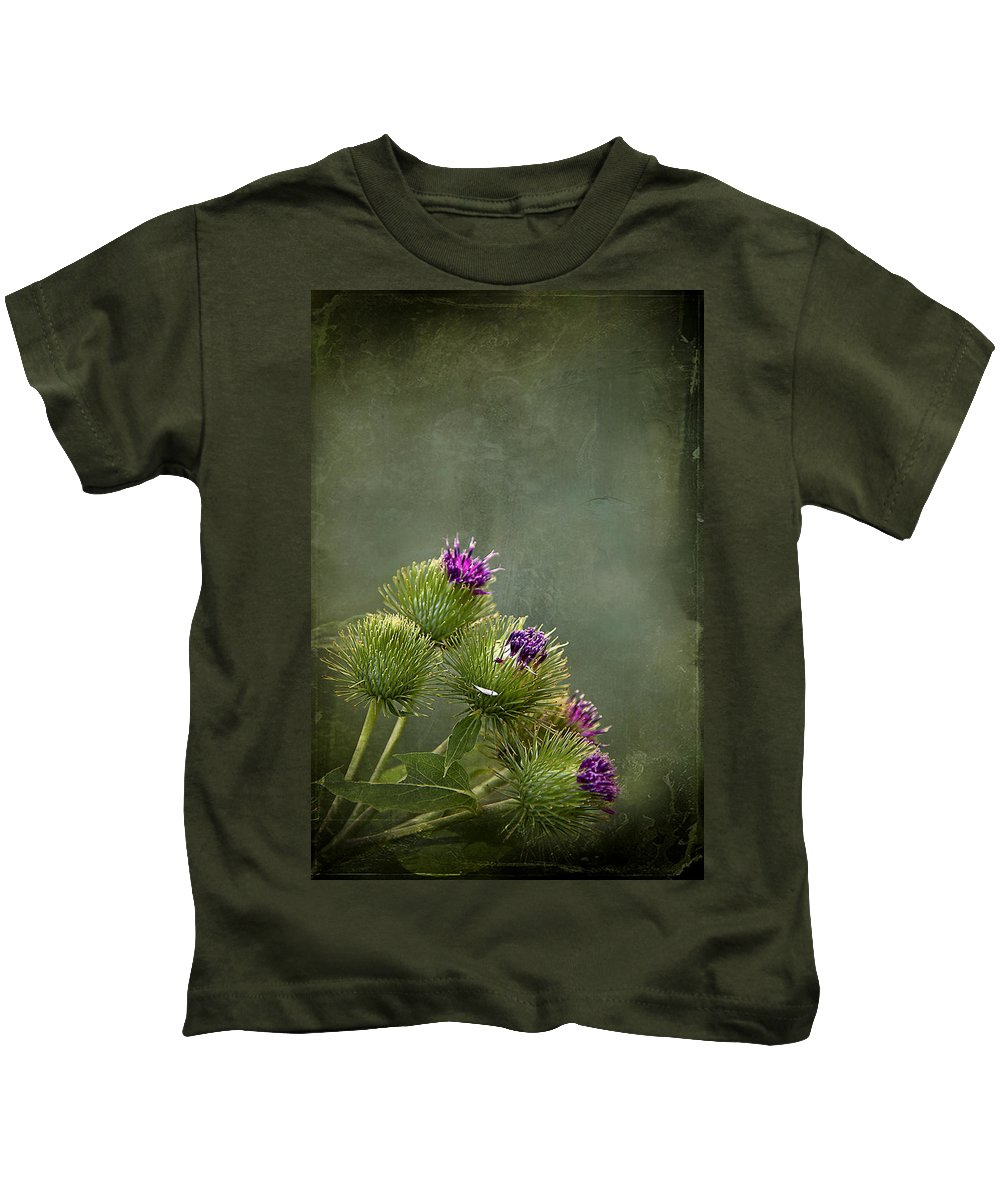 Texture Kids T-Shirt featuring the photograph Up To The Point by Evelina Kremsdorf