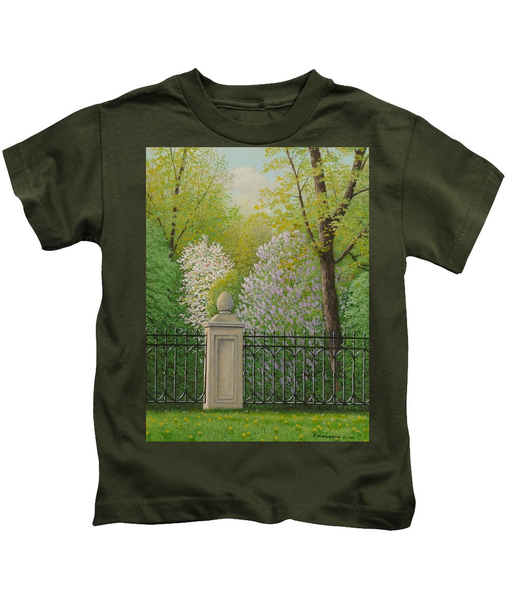 Garden Kids T-Shirt featuring the painting Urban Oasis by Jake Vandenbrink
