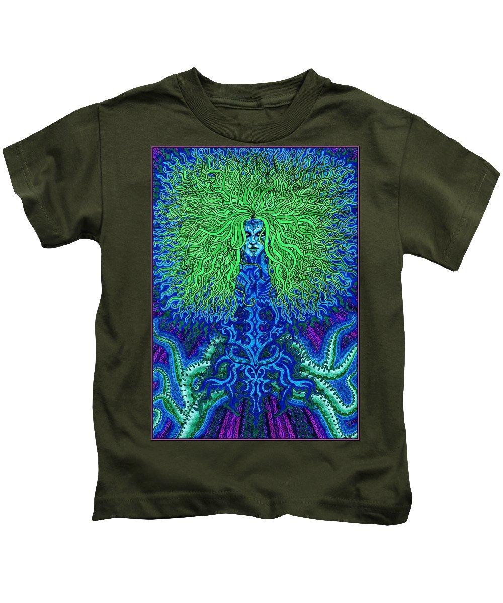 Voice Kids T-Shirt featuring the drawing Uyulala by Baruska A Michalcikova