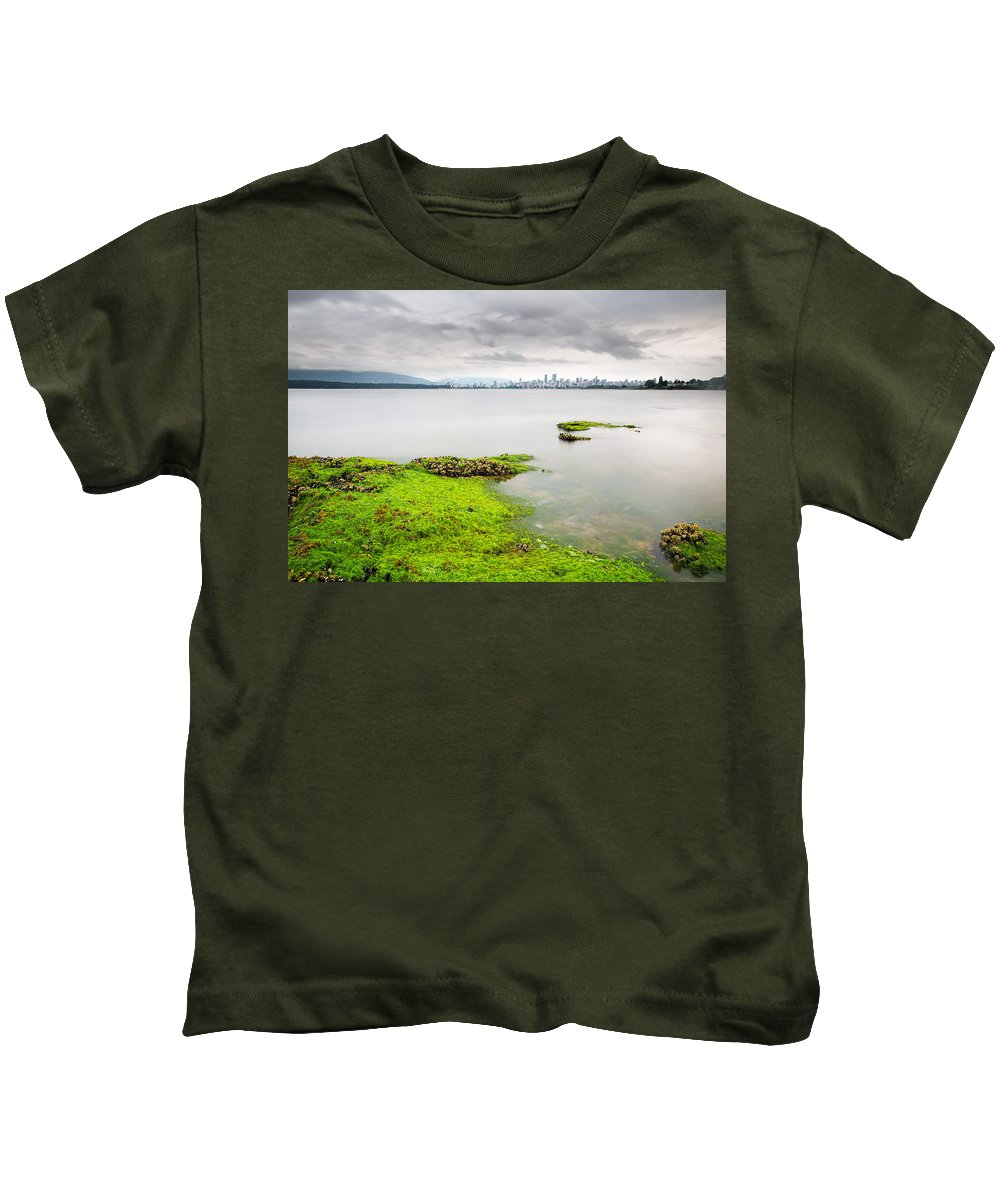 Vancouver Kids T-Shirt featuring the photograph Vancouver by David Wang