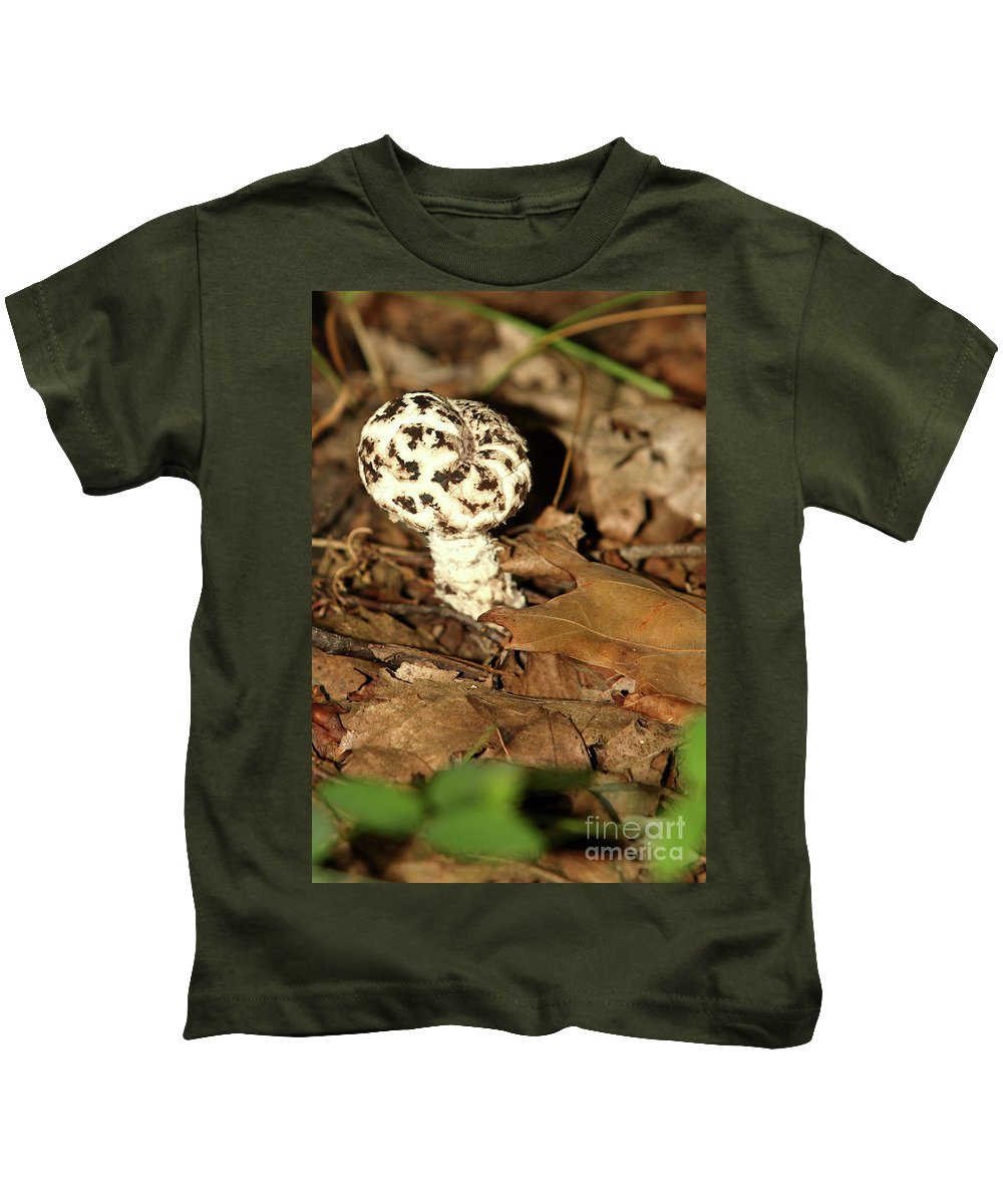 Vacation Kids T-Shirt featuring the photograph Varigated Mushroom by Alan Look