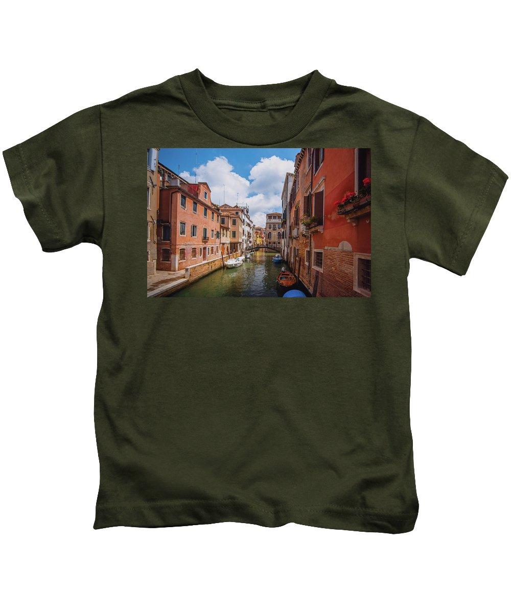 Italy Kids T-Shirt featuring the photograph Venice, Italy by Anastacia Petropavlovskaja