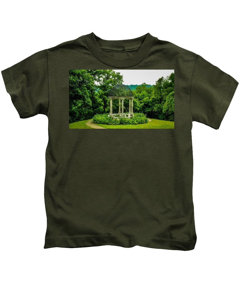 Virginia Kids T-Shirt featuring the photograph Veranda by Anthony Rodrigues
