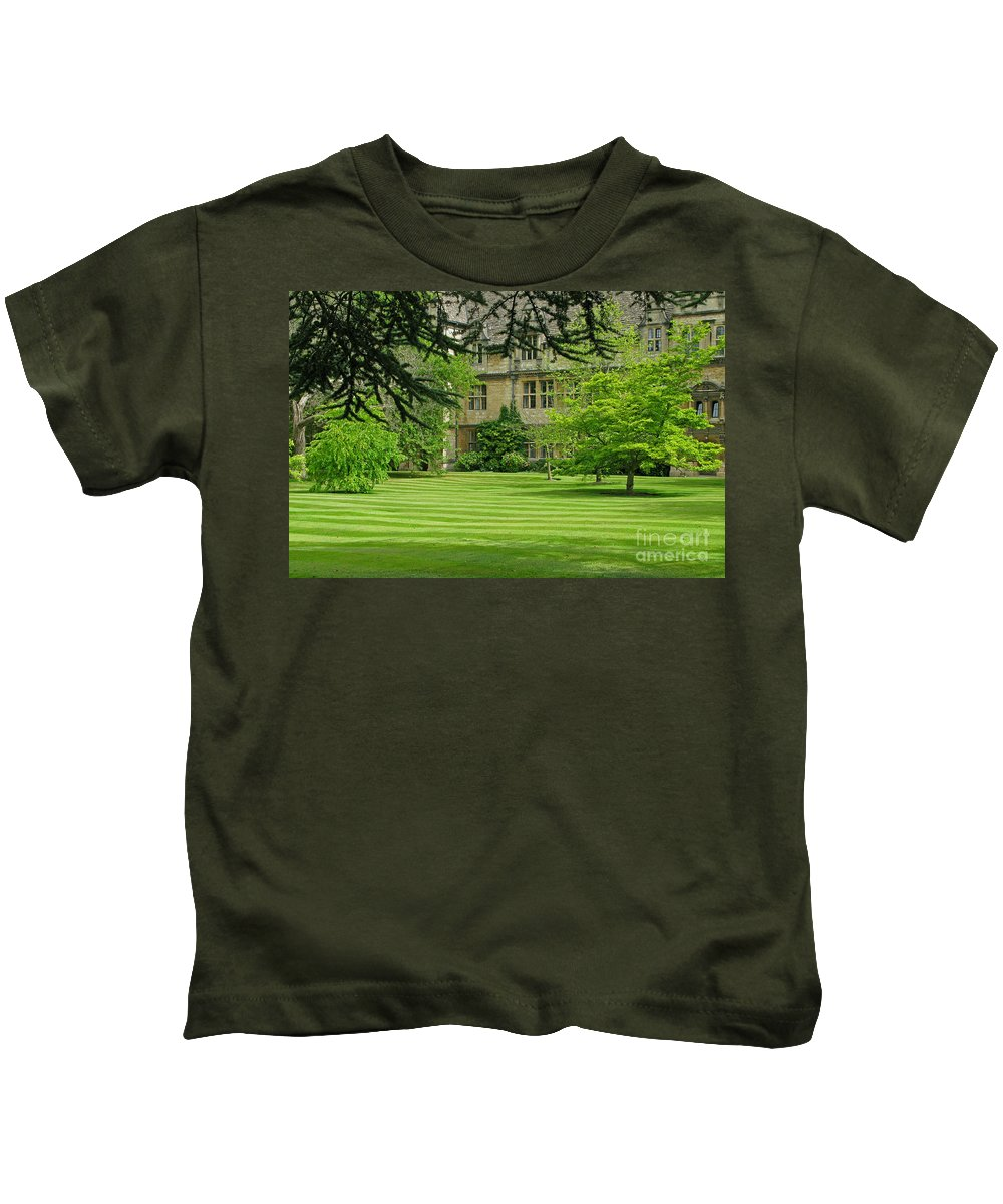 England Kids T-Shirt featuring the photograph Verdant England by Ann Horn