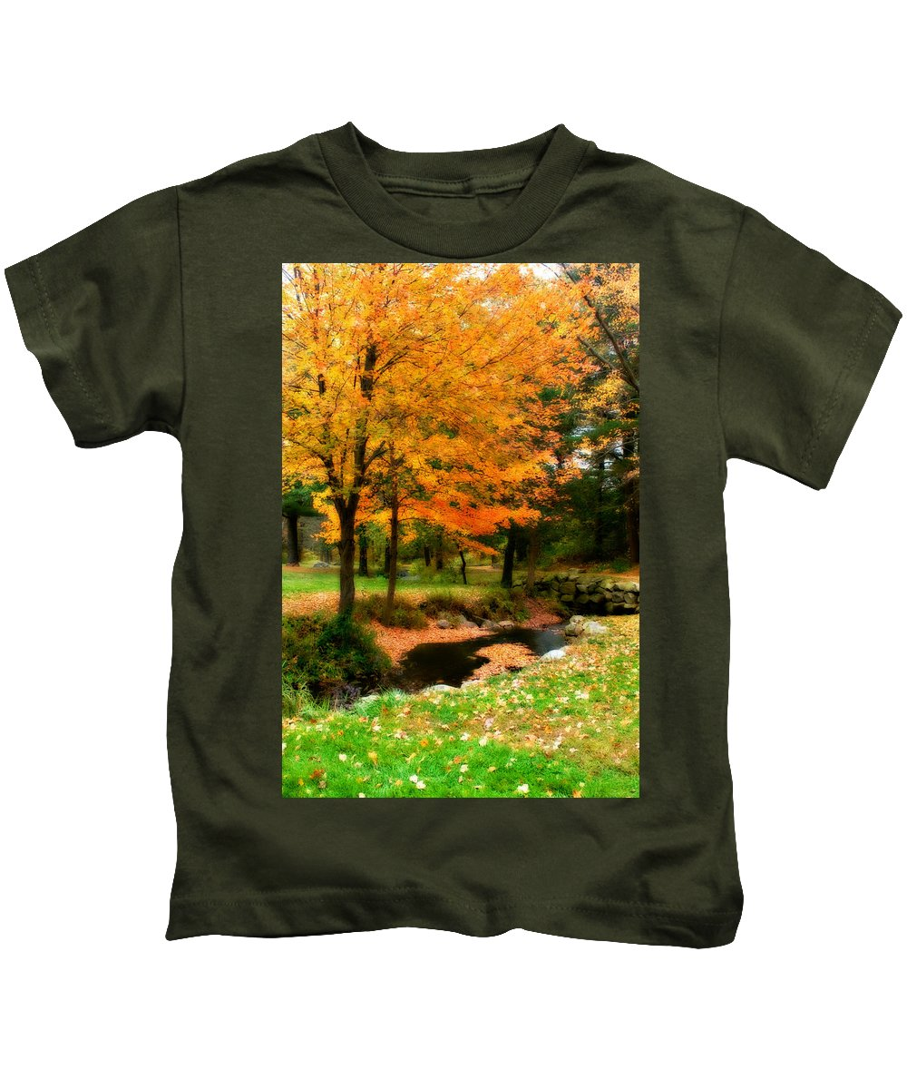 Fall Kids T-Shirt featuring the photograph Vibrant October by Renee Hong