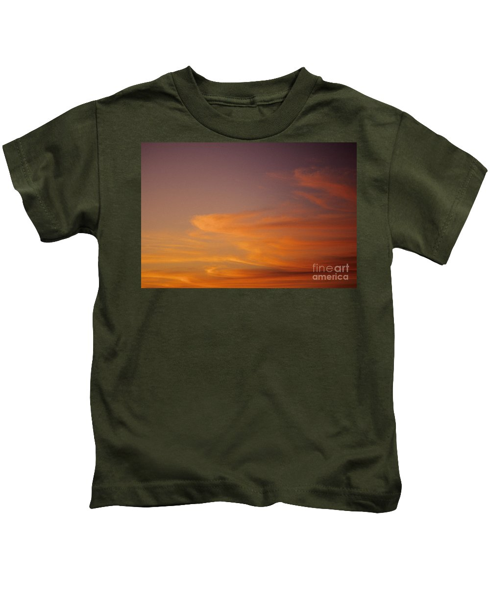 Afternoon Kids T-Shirt featuring the photograph Vibrant Sunset by Carl Shaneff - Printscapes