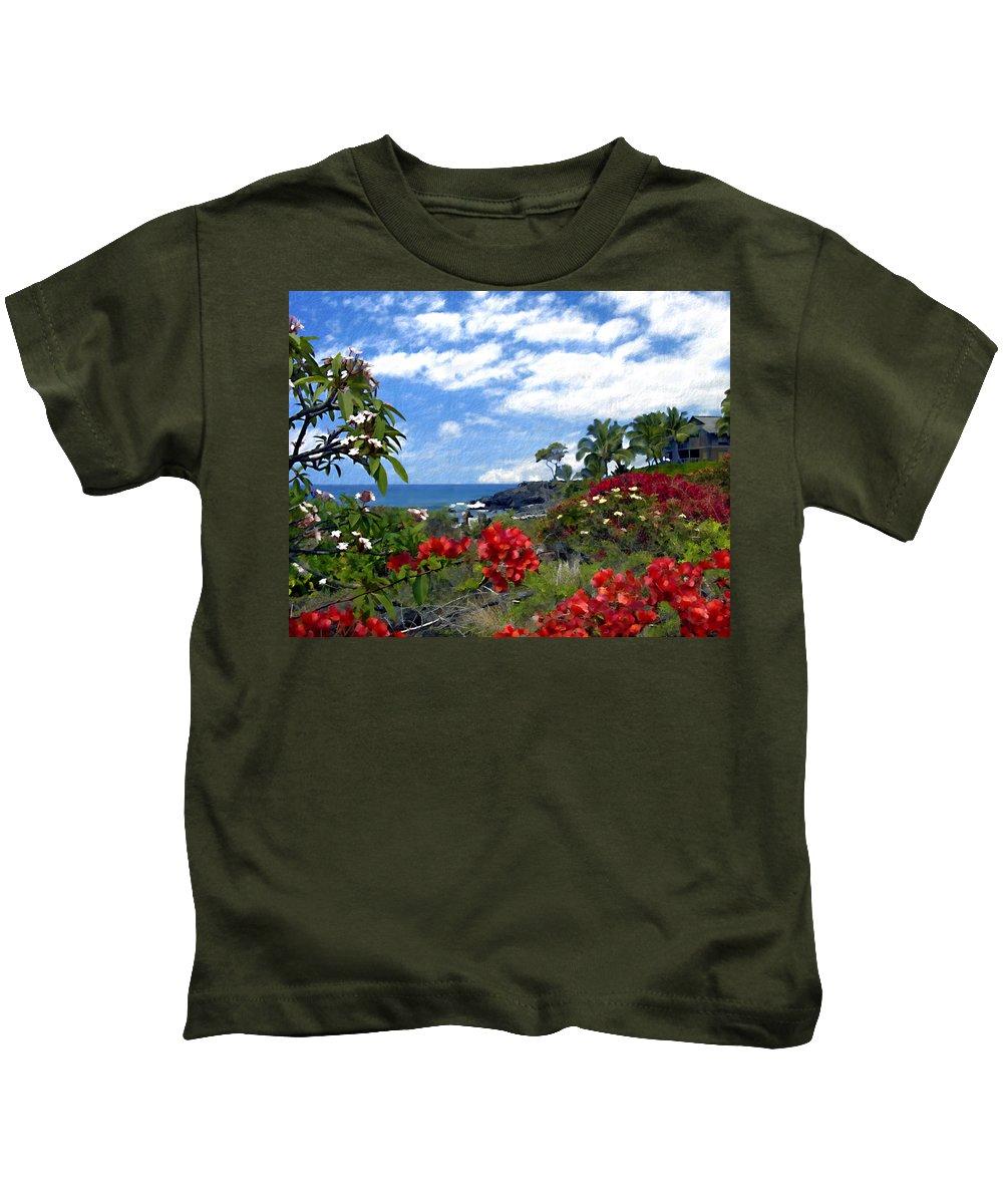 Hawaii Kids T-Shirt featuring the photograph View From Keauhou Kona by Kurt Van Wagner
