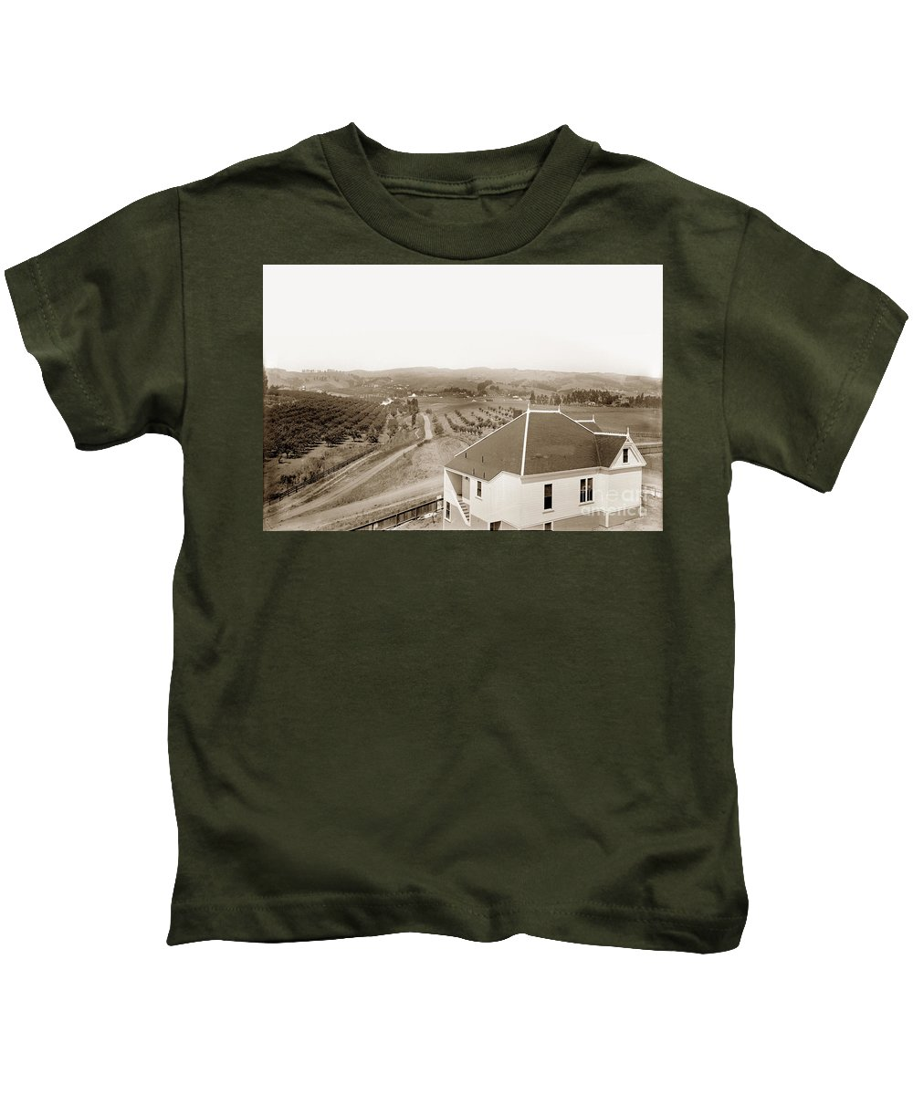 Foothill Kids T-Shirt featuring the photograph View Of Foothill Orchards. This View Of Orchards In The Foothill by California Views Mr Pat Hathaway Archives