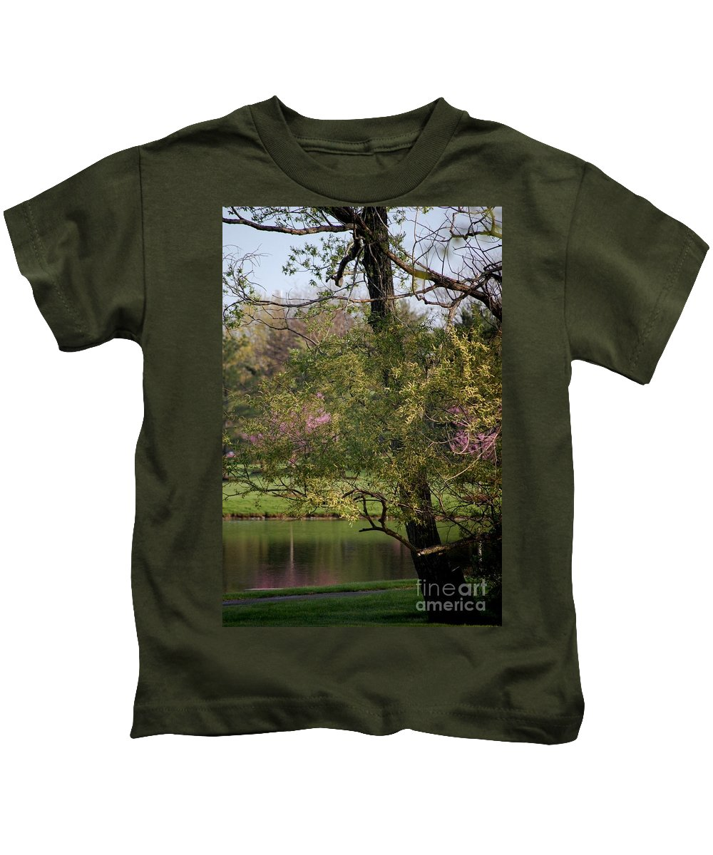 Landscape Kids T-Shirt featuring the photograph View Out My Office Window. by David Lane