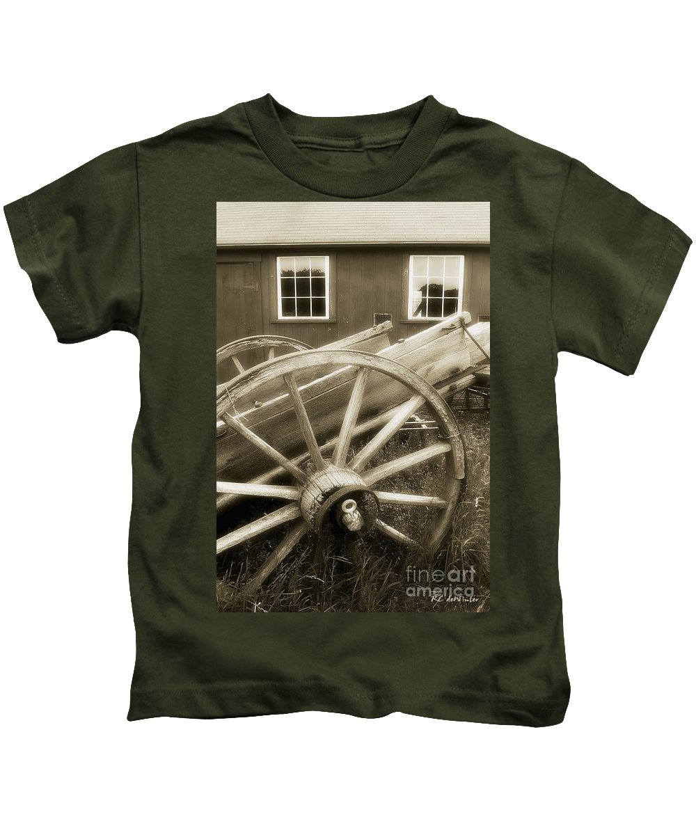 Barn Kids T-Shirt featuring the photograph Vintage Tableau by RC DeWinter