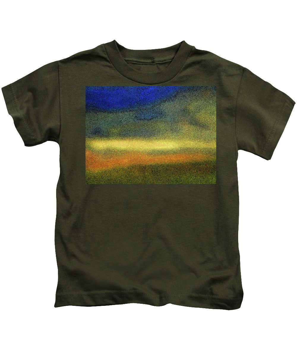 Abstract Kids T-Shirt featuring the photograph Virginia Dale-impressionistic Landscape by Lenore Senior