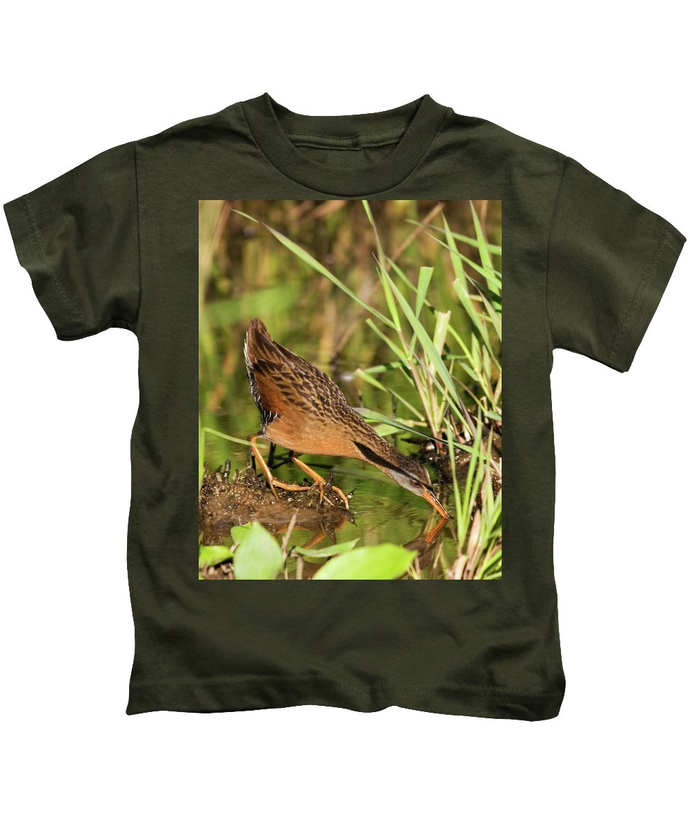 Virginia Rail Kids T-Shirt featuring the photograph Virginia Rail by Randall Ingalls