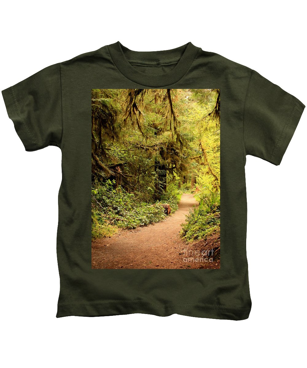 Forest Kids T-Shirt featuring the photograph Walk Into The Forest by Carol Groenen