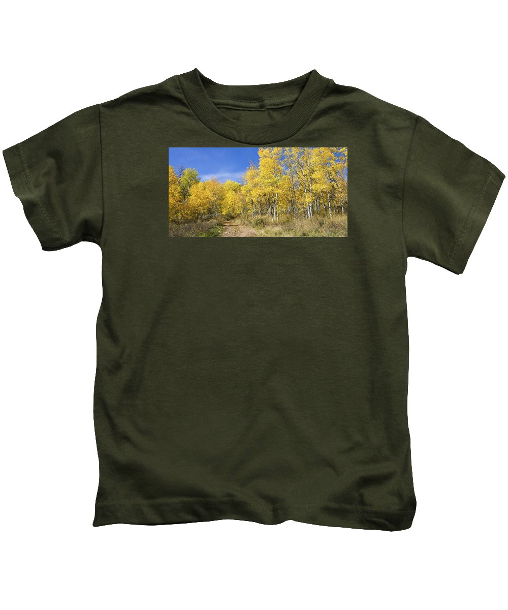 Wasatch Fall Kids T-Shirt featuring the photograph Wasatch Fall by Chad Dutson