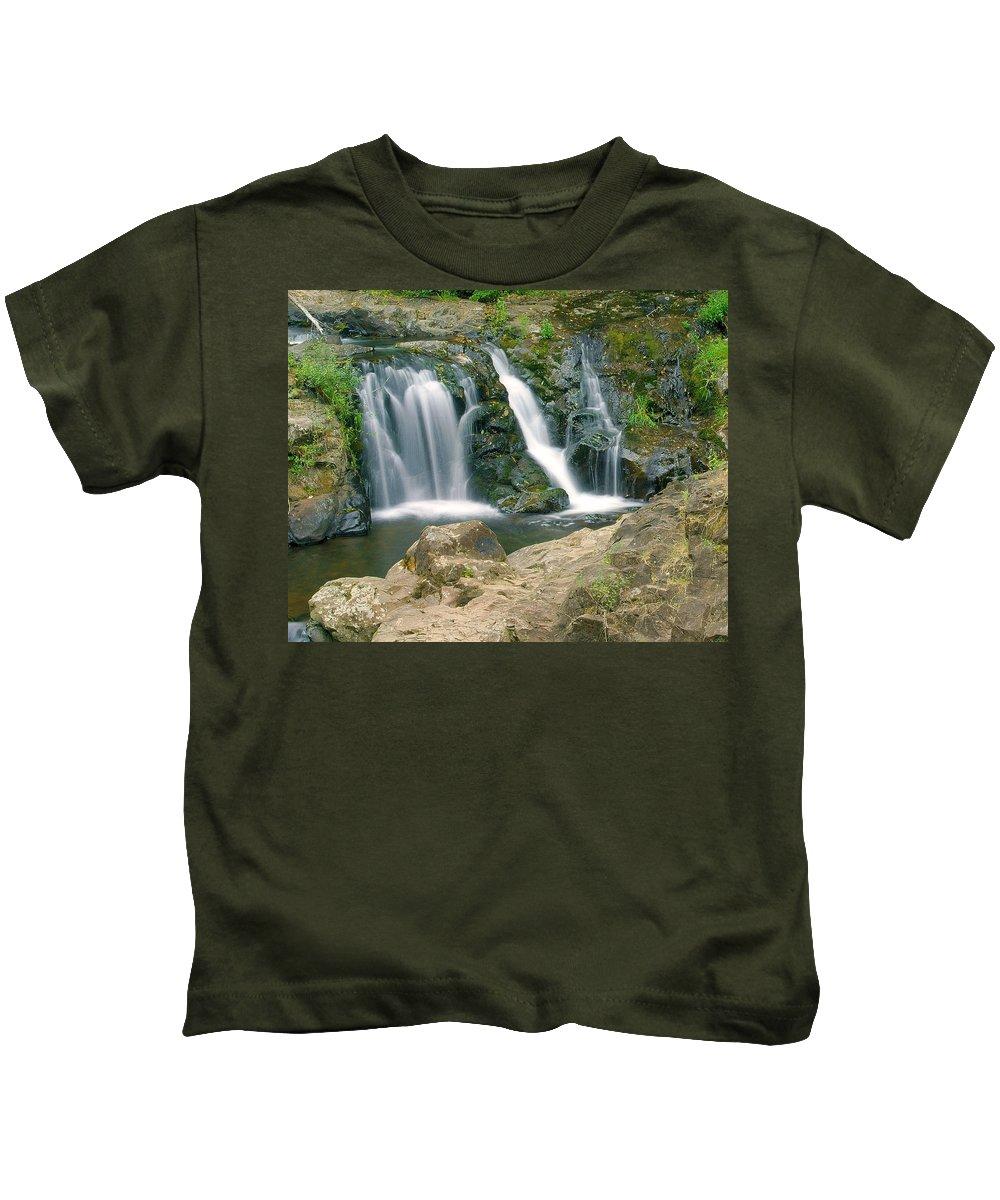 Waterfall Kids T-Shirt featuring the photograph Washington Falls 3 by Marty Koch