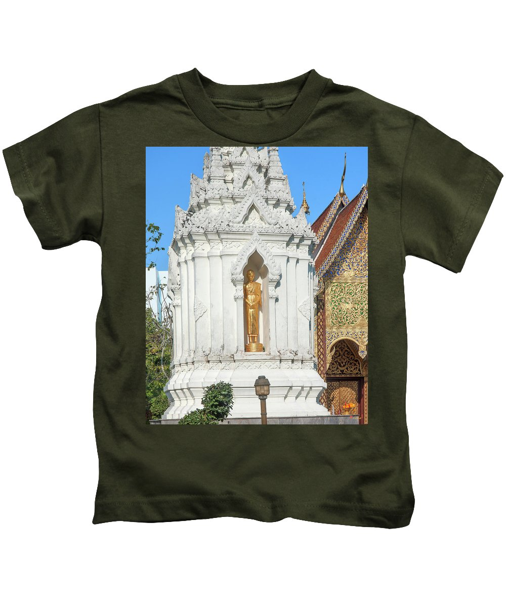 Scenic Kids T-Shirt featuring the photograph Wat Chamthewi Monk Memorial Chedi Dthlu0090 by Gerry Gantt