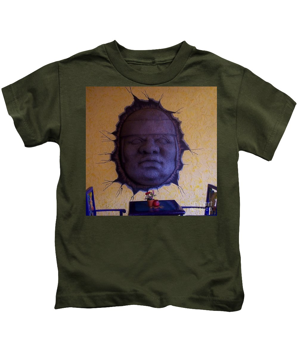 Face Kids T-Shirt featuring the photograph Watch What You Eat by Debbi Granruth