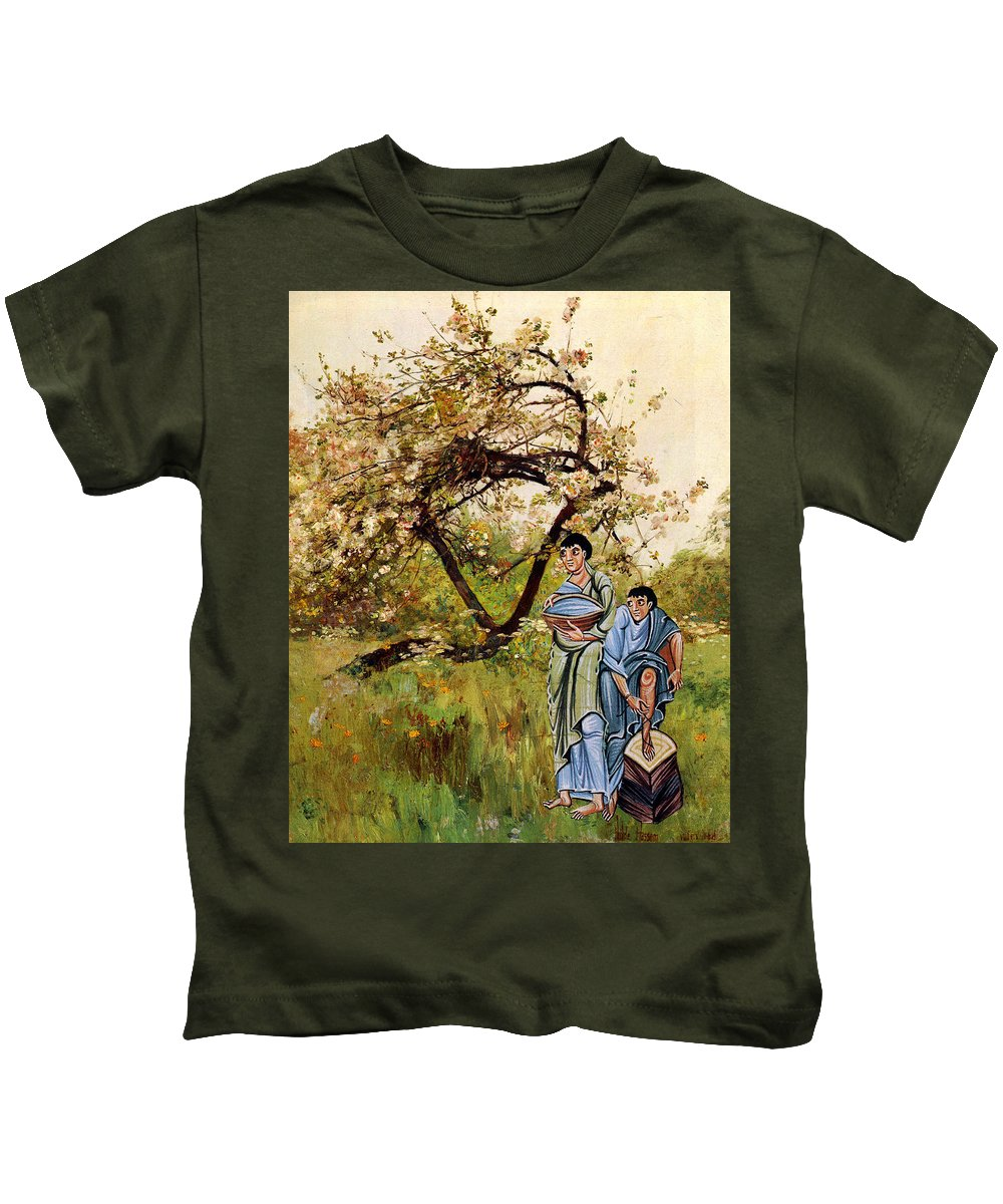 Collage Kids T-Shirt featuring the digital art Water Boys by John Vincent Palozzi