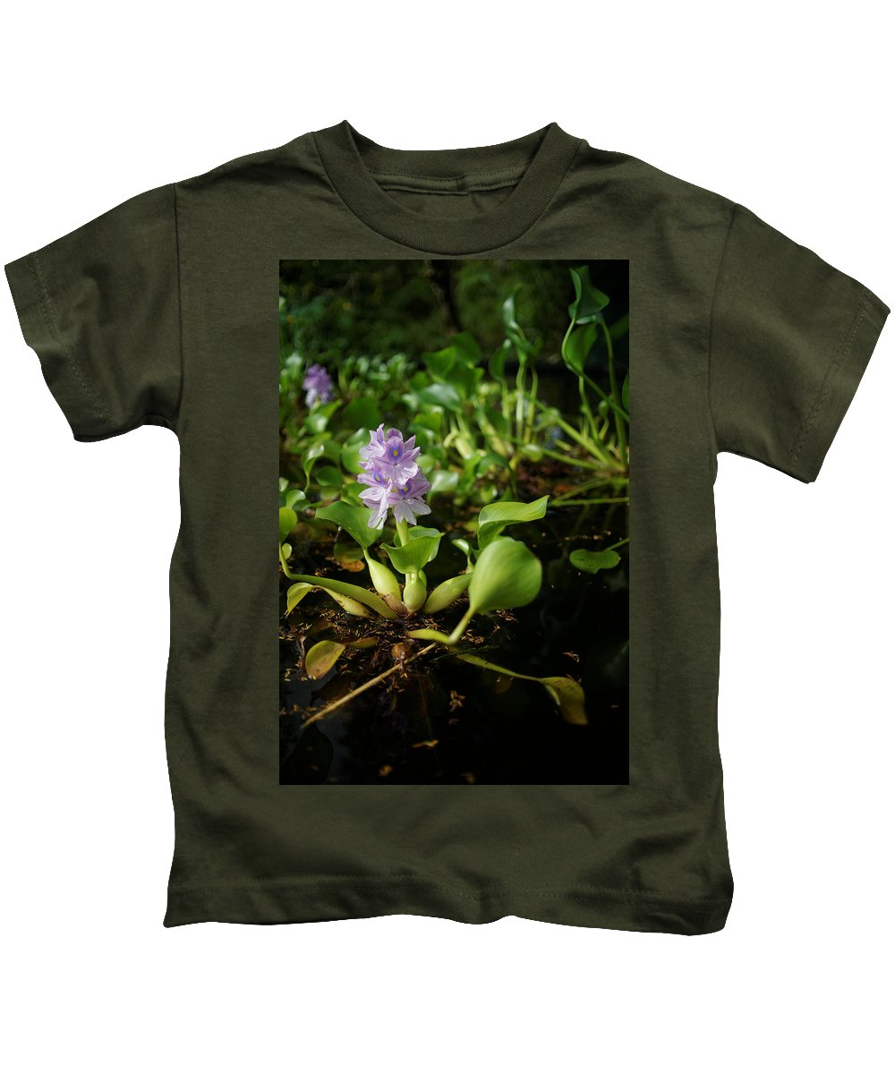Kids T-Shirt featuring the photograph Water Hyacinth by Wayne Wilkinson