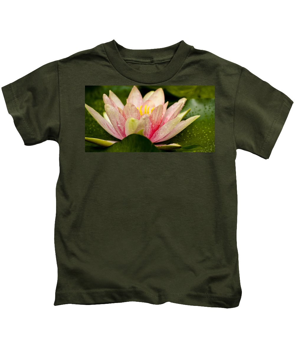 J Paul Getty Kids T-Shirt featuring the photograph Water Lilly At Eye Level by Teresa Mucha