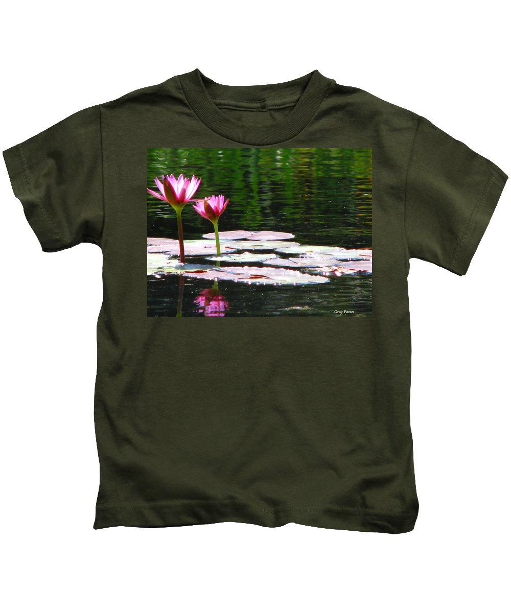 Patzer Kids T-Shirt featuring the photograph Water Lily by Greg Patzer