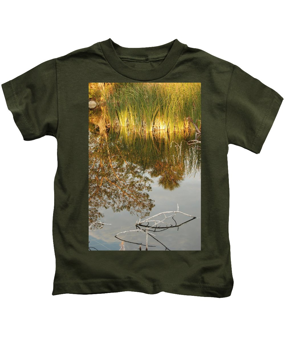 Wood Kids T-Shirt featuring the photograph Water Line by Rob Hans