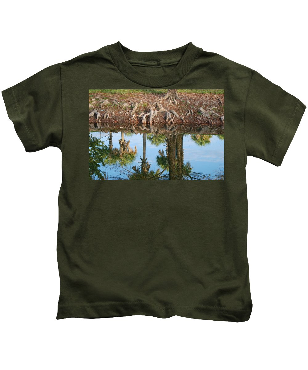 Roots Kids T-Shirt featuring the photograph Water Reflections by Rob Hans