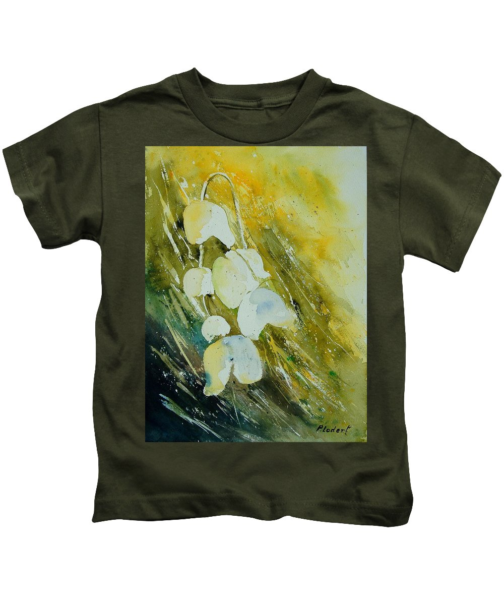 Flowers Kids T-Shirt featuring the painting Watercolor 220508 by Pol Ledent