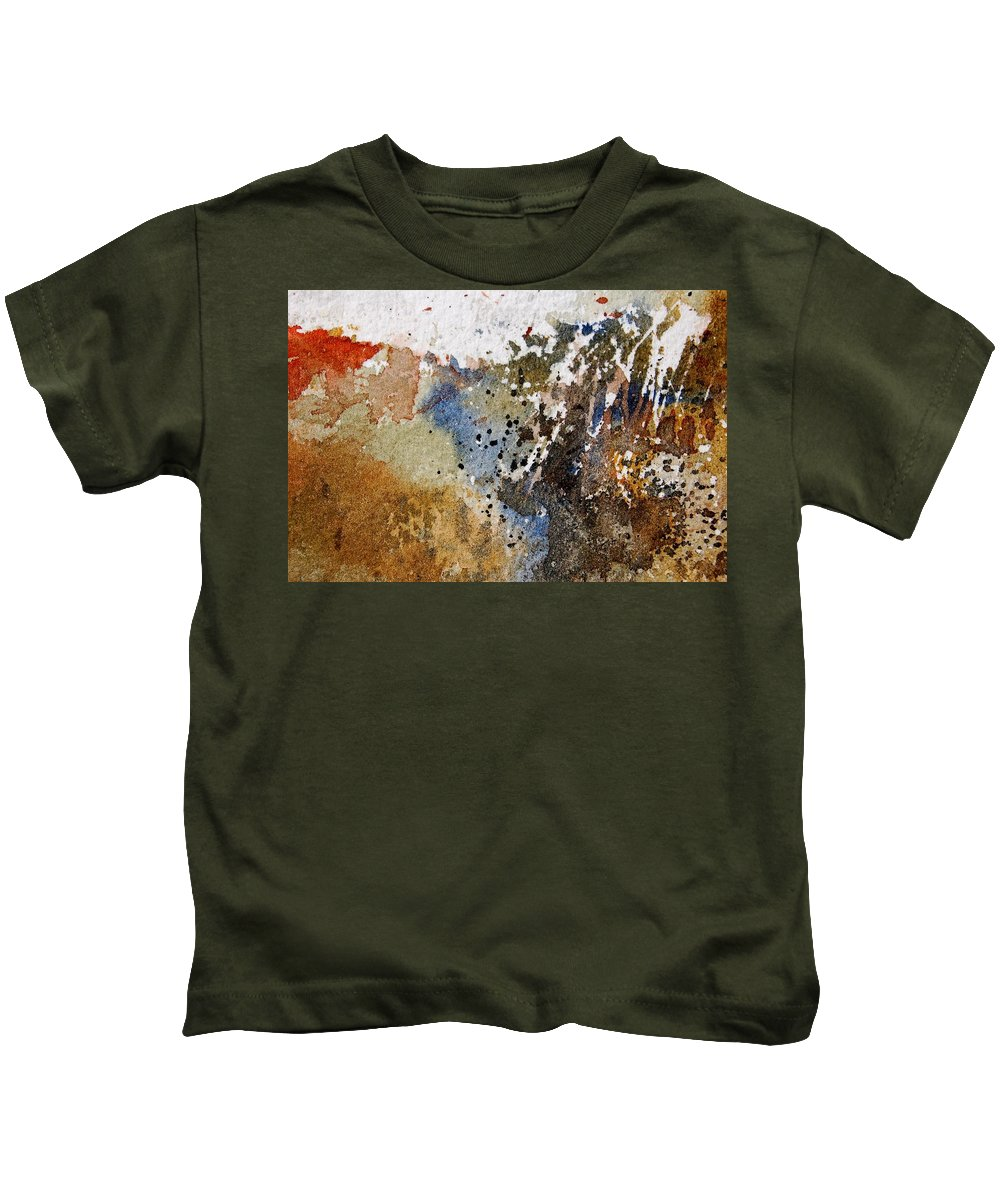 Abstract Kids T-Shirt featuring the painting Watercolor 9050223 by Pol Ledent