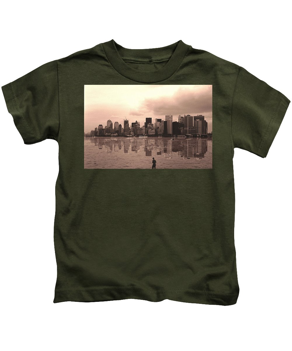 Photo Kids T-Shirt featuring the photograph We Are Watched by Enrique Crusellas