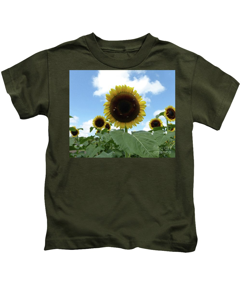 Sunflower Kids T-Shirt featuring the photograph Welcome Friends by To-Tam Gerwe