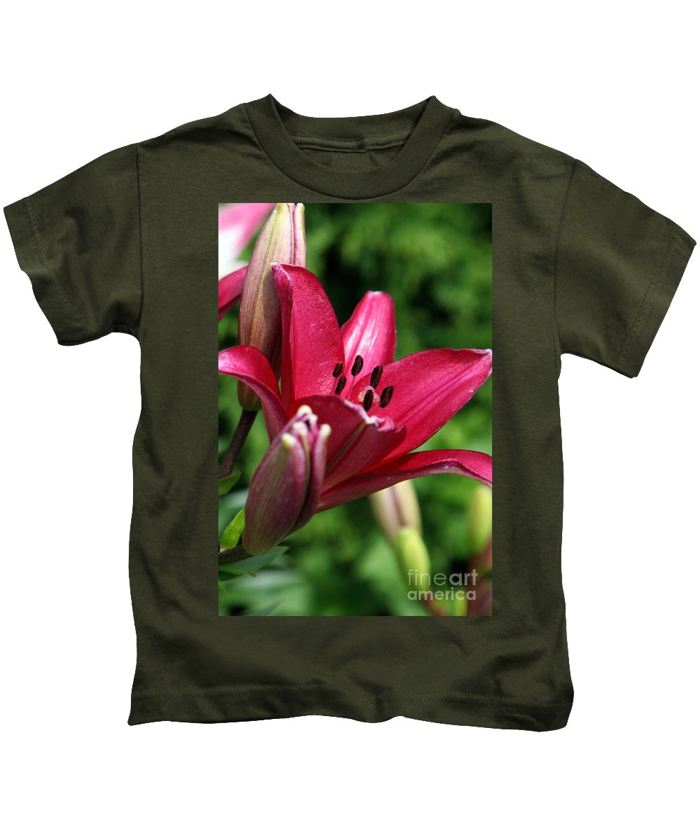 Lilly Kids T-Shirt featuring the photograph Welcoming by Amanda Barcon