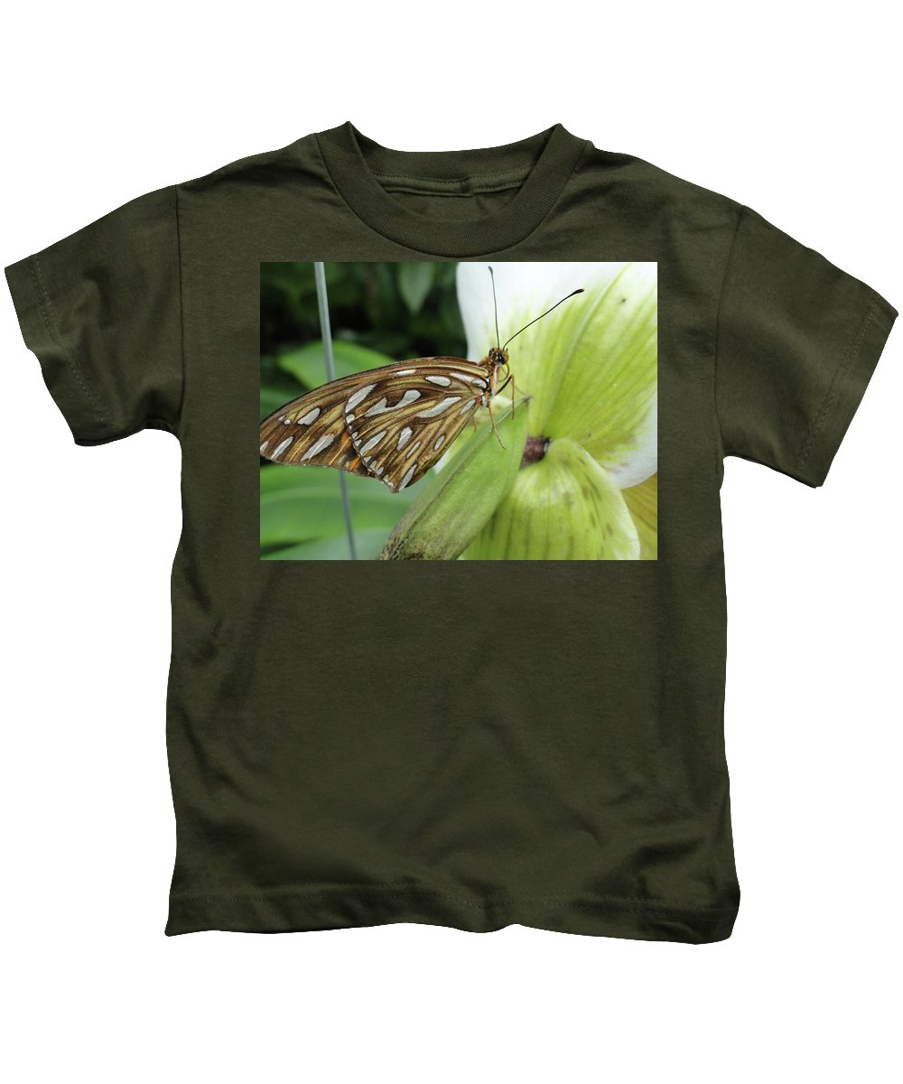 Butterfly Kids T-Shirt featuring the photograph We'll See You There by Trish Hale