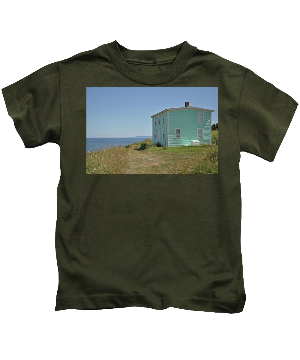 Ocean Kids T-Shirt featuring the photograph What A View by Colleen English