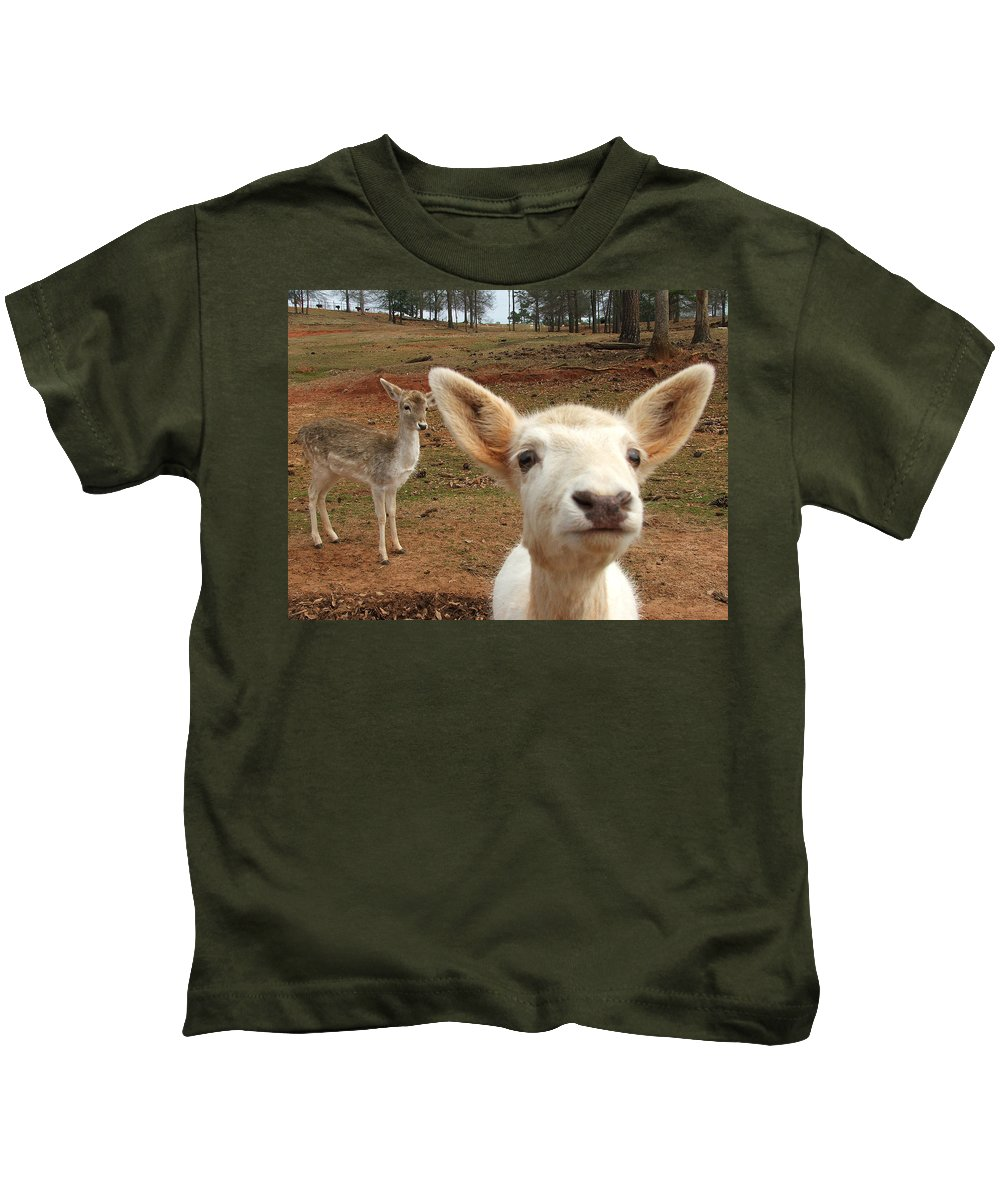 Deer Kids T-Shirt featuring the photograph What Is That by Robert Meanor