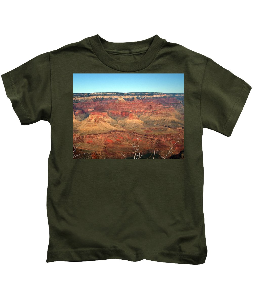 Grand Canyon Kids T-Shirt featuring the photograph Whata View by Shelley Jones
