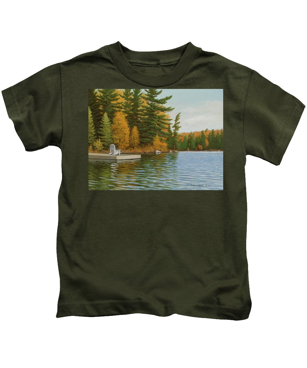 Jake Vandenbrink Kids T-Shirt featuring the painting Where Life Is Easy by Jake Vandenbrink