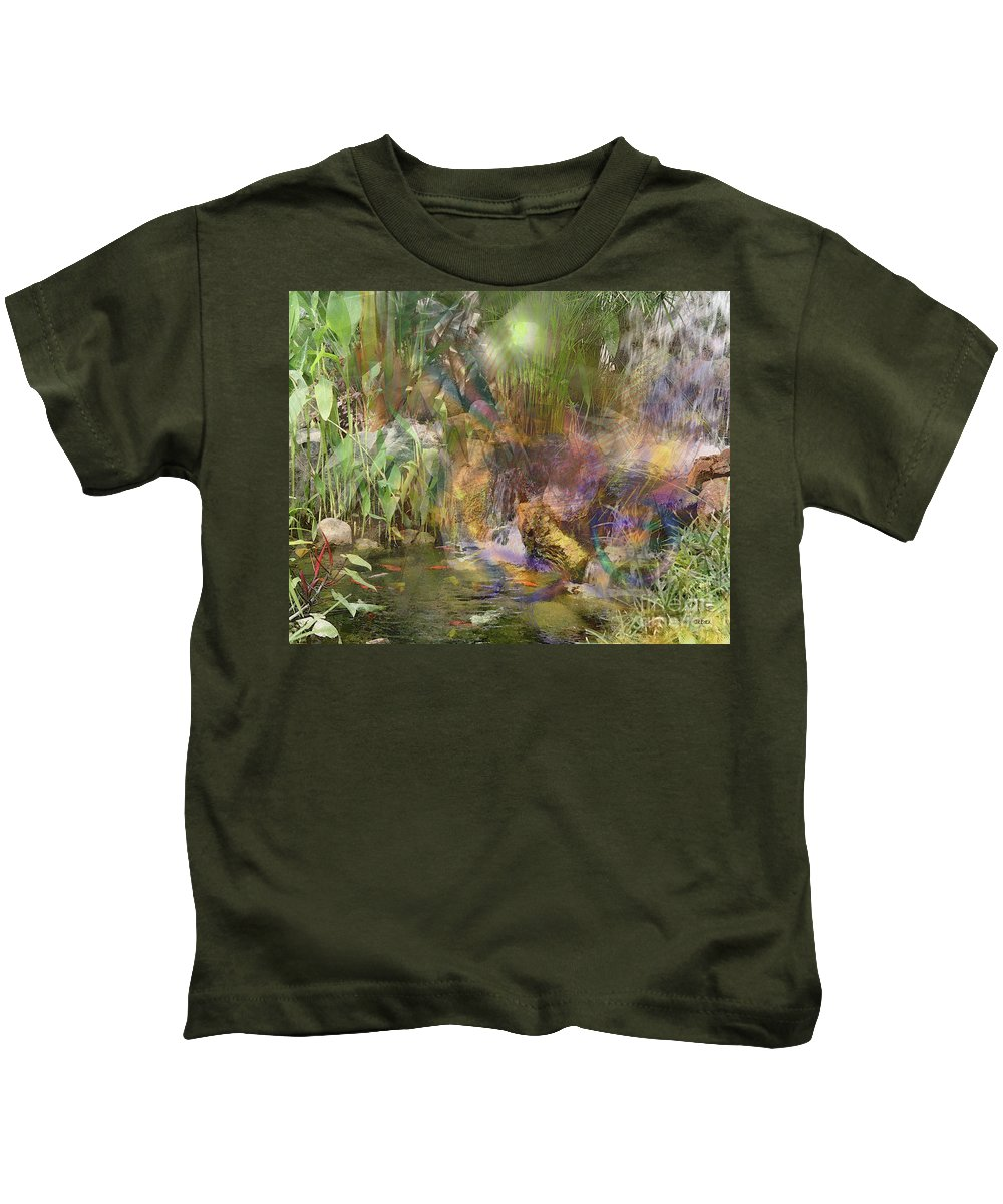 Whispering Waters Kids T-Shirt featuring the digital art Whispering Waters by John Beck