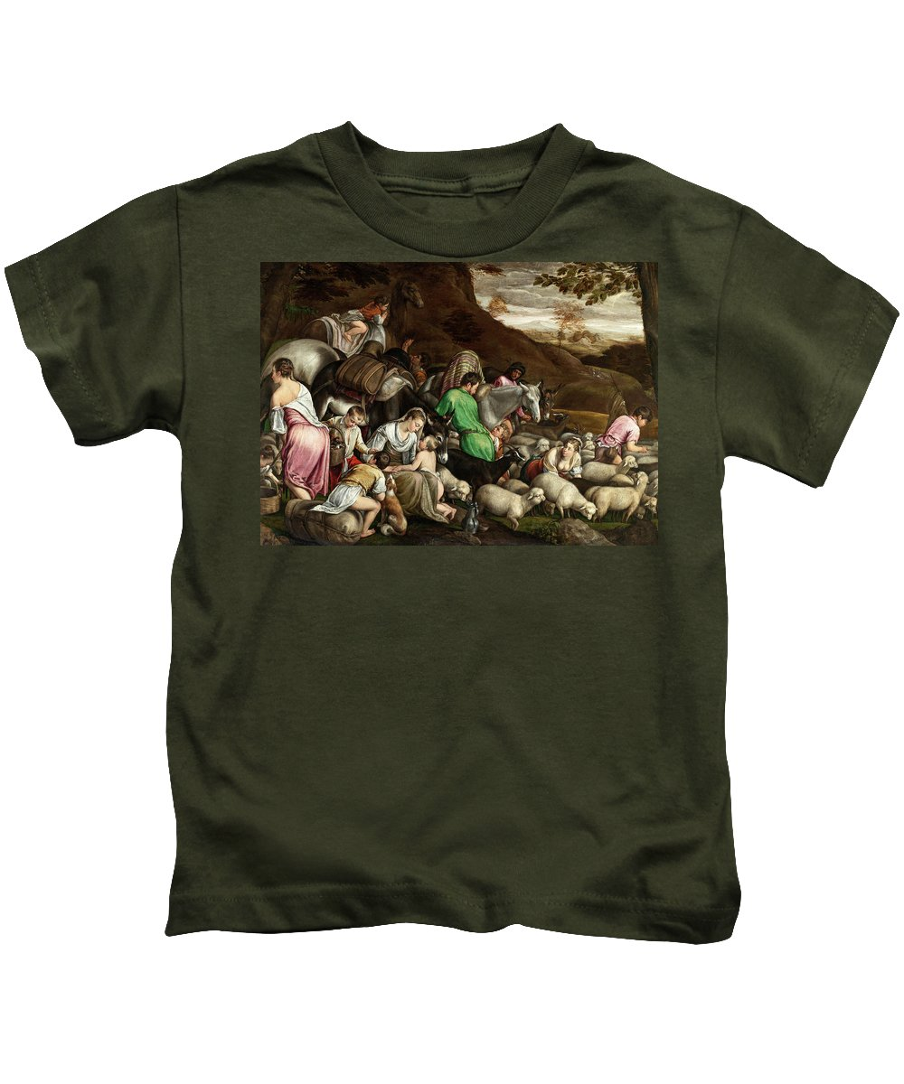 Photograph Kids T-Shirt featuring the photograph White Lambs by Munir Alawi