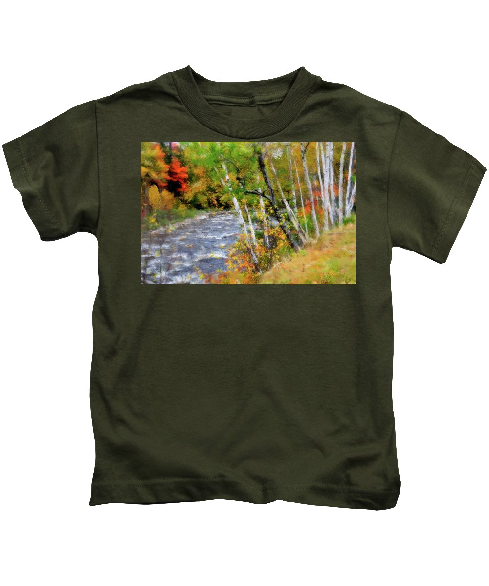 Stream Kids T-Shirt featuring the photograph White Mountains Brook by Betty LaRue