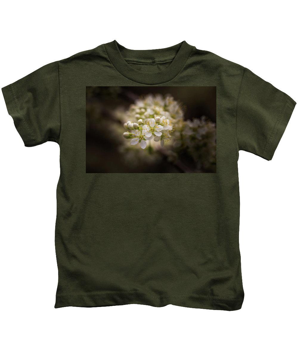 Plum Kids T-Shirt featuring the photograph White Plum Blossom- 2 by Calazone's Flics
