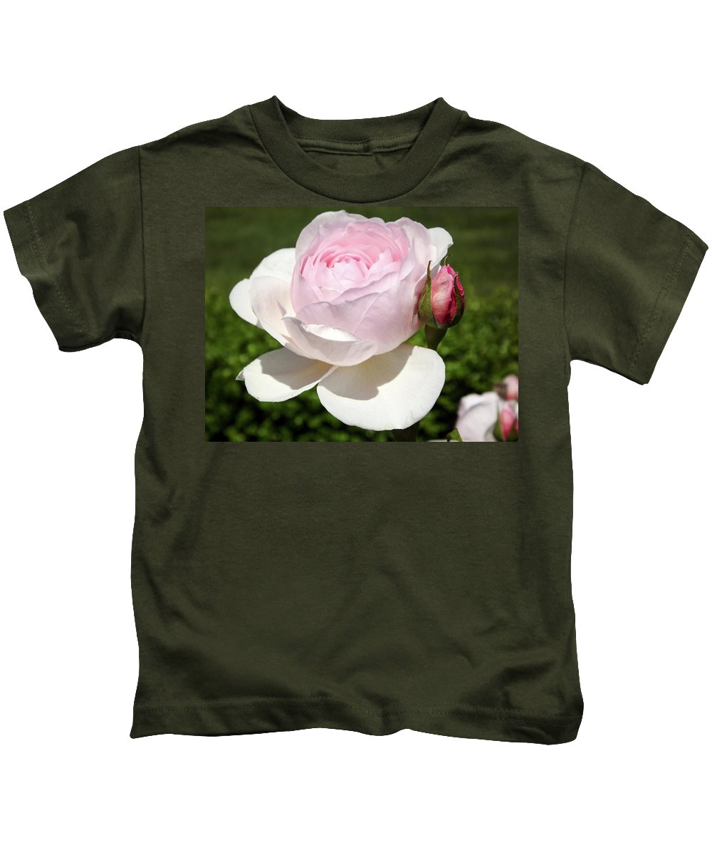White Rose Photographs Kids T-Shirt featuring the photograph White Rose by Lourry Legarde
