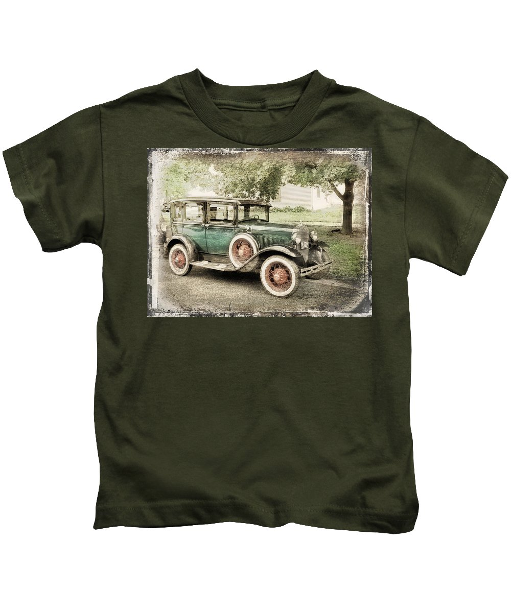 Cars Kids T-Shirt featuring the photograph Whitewalls by John Anderson